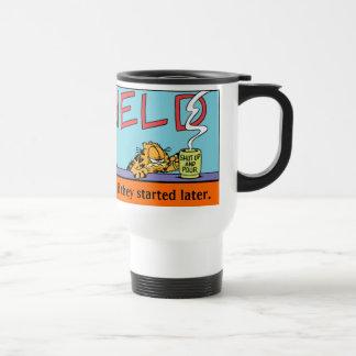 Garfield Logobox Mornings Travel Mug