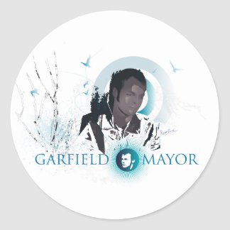 "Garfield Mayor ""Journey"" (Blue) Classic Round Sticker"