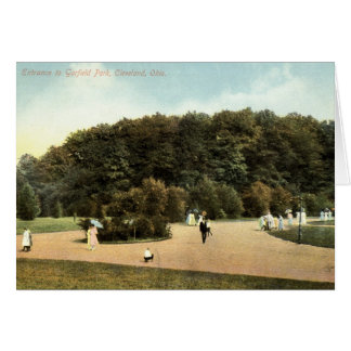 Garfield Park, Cleveland Ohio 1910 vintage Card