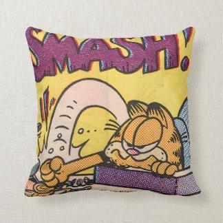 Garfield SMASH! Throw Pillow