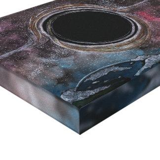 Gargantuan Black Hole Watercolour Canvas Print