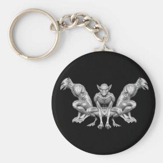 Gargoyle Basic Round Button Keychain