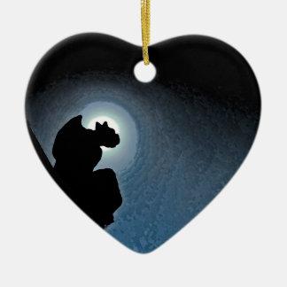 Gargoyle Ceramic Heart Ornament