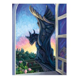 Gargoyle Guardian Fantasy Art Postcard