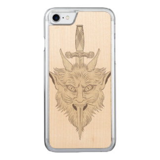 Gargoyle Illustration Carved iPhone 8/7 Case