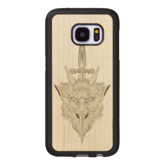 Gargoyle Illustration Wood Samsung Galaxy S7 Case