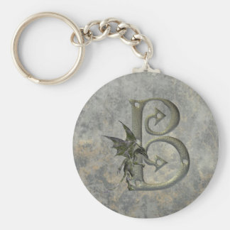 Gargoyle Monogram B Keychain