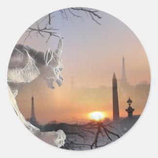 Gargoyle of Notre-Dame Round Sticker