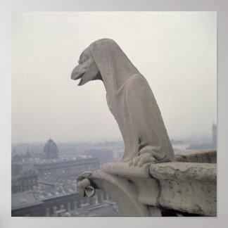 Gargoyle on the balustrade of the Grande Poster