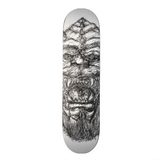 Gargoyle Orc black and white drawing Skate Deck