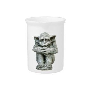 Gargoyle Porcelain Pitcher