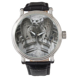 Gargoyle Vintage Leather Strap Black Watch