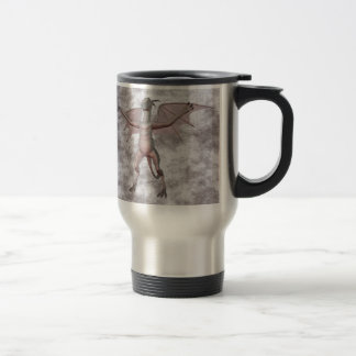 Gargoyle w00t Gray mist Travel Mug