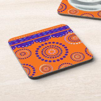 Garland ARTdeco violet blue + your backgr. color Beverage Coaster