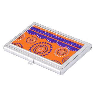 Garland ARTdeco violet blue + your backgr. color Business Card Holders
