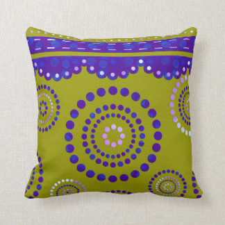 Garland ARTdeco violet blue + your backgr. color Throw Pillow