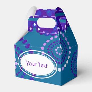 Garland ARTdeco violet blue + your backgr. color Wedding Favor Boxes