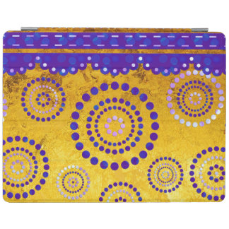 Garland ARTdeco violet blue + your background iPad Cover