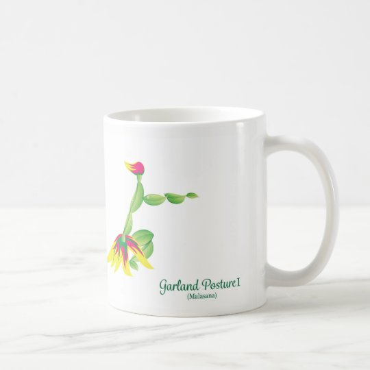 Garland Pose (White Mug) Coffee Mug