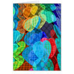 garlands of pastel coloured hearts greeting card
