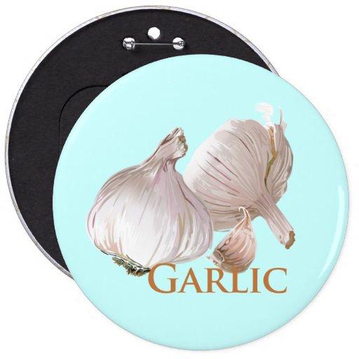 Garlic and Garlic Clove Pin