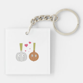 Garlic and Onion in love Keychain