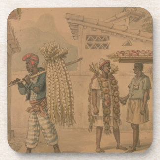 Garlic and Onion Sellers, 1826 (w/c on paper) Beverage Coasters