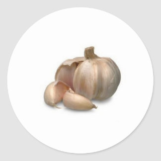 Garlic bulb classic round sticker