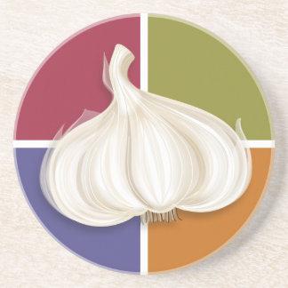 Garlic Bulb Colors Drink Coaster