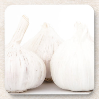 Garlic bulbs drink coasters