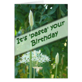 Garlic Chive Belated Bday-customize Greeting Card
