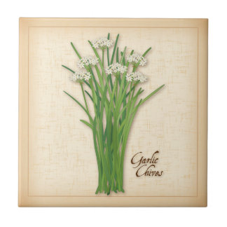 Garlic Chives Herb Tile