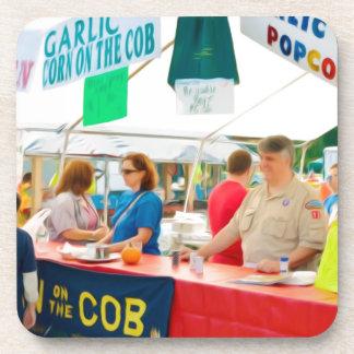 Garlic Corn On The Cob Beverage Coasters