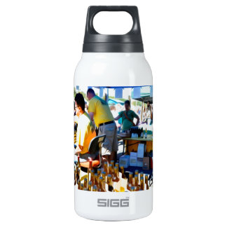 Garlic Festival offers garlic vinegar and olive oi Insulated Water Bottle