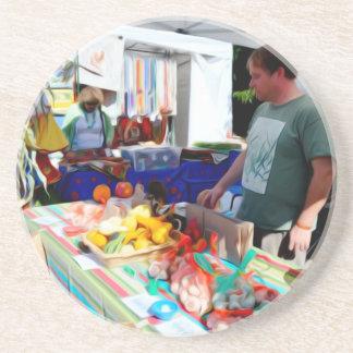 Garlic Festival Vendors 2 Beverage Coaster