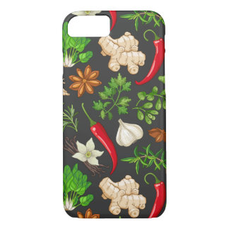 Garlic Ginger and Hot Peppers iPhone 8/7 Case