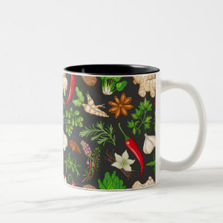 Garlic Ginger and Hot Peppers Two-Tone Coffee Mug
