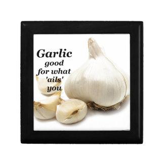 garlic good for what ails you keepsake box