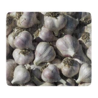 Garlic Harvest Glass Cutting Board