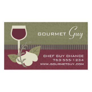 garlic herbs wine chef catering business cards