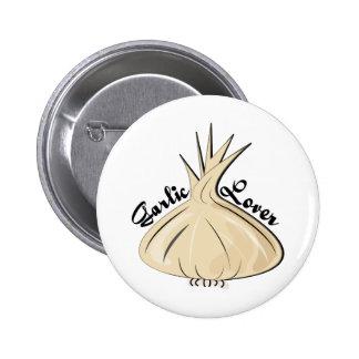 Garlic Lover 2 Inch Round Button