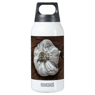 Garlic photo insulated water bottle