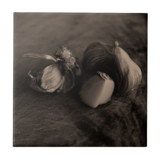 Garlic Still Life Fine Art Photograph Tile