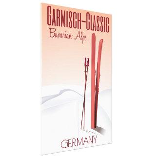 Garmisch Classic,Bavarian Alps Ski poster Canvas Print