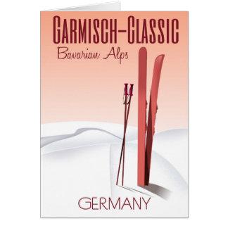 Garmisch Classic,Bavarian Alps Ski poster Card