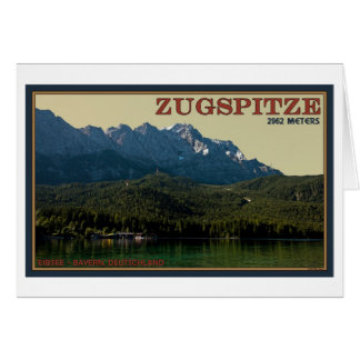 Garmisch - Zugspitze above the Eibsee Card
