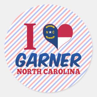 Garner, North Carolina Classic Round Sticker