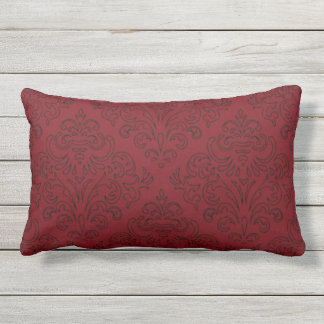 Garnet and Black Design Lumbar Pillow