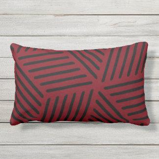 Garnet and Black Design Outdoor Pillow