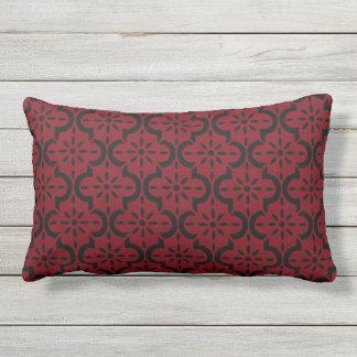 Garnet and Black Lumbar Pillow